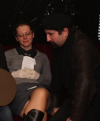 """Ja oraz Alex na moim pierwszym i jedynym w życiu LARPie. Jeśli mnie pamięć nie myli, mistrzami gry byli wówczas Paweł """"Skała"""" Jurgiel i Bartłomiej 'Bart' Fabiszewski. 2009 rok w Paradoxie."""