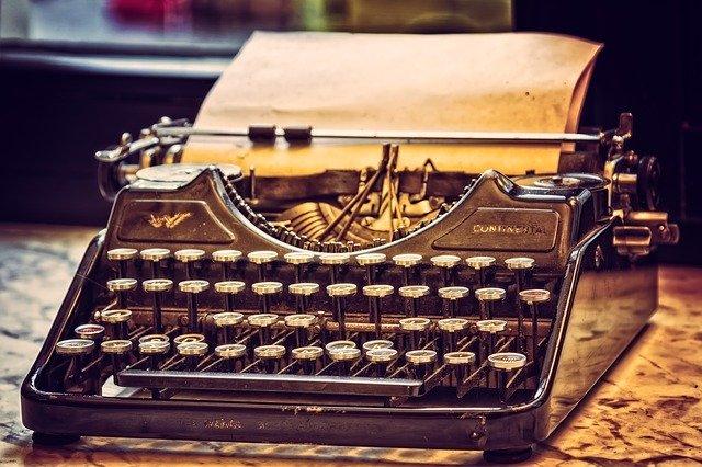 Maszyna do pisania. Warsztat pisarza