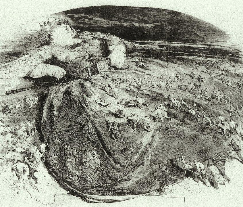 Karykatura Edmonta Morina, krytykująca wielką przebudowę Paryża autorstwa Haussmanna w 2 poł. XIX w. Paryż ukazany jest tu jako kobieta. Wokulski i kobiety. Izabela Łęcka. Wokulski w Paryżu